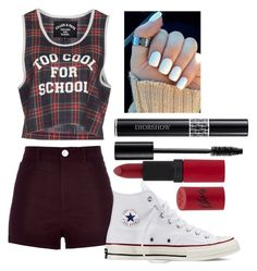 """""""Untitled #91"""" by rena-veloni ❤ liked on Polyvore featuring River Island, Filles à papa, Converse and Rimmel"""