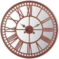 "Red Mirrored Wall Clock: Confucius said, ""Study without reflection is a waste of time."" But, we respectfully disagree—if you're studying your reflection in this large, mirrored wall clock. Which means you can squeeze in that last once-over before running out the door. We call that a time-saver."