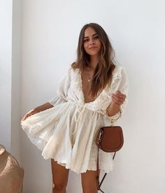 Summer Outfit Inspiration Look Fashion, Fashion Beauty, Womens Fashion, Fashion Tips, Fashion Design, Fashion Trends, Romantic Style Fashion, Romantic Outfit, Romantic Look