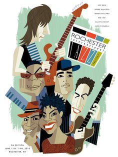 Rochester International Jazz Festival 2010 poster
