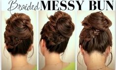 long curly wedding hairstyles | ... HAIRSTYLES | BIG, MESSY BUN WITH BRAIDS UPDOS FOR MEDIUM LONG HAIR