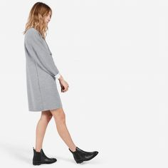 The Luxe Double-Knit Sweater Dress - Everlane