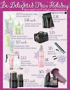 Check out the new holiday products!!!  Get them now at www.marykay.com/bcartwright618