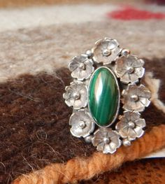 Navajo jewelry sterling ring size 5 Native American Jewelry southwest jewelry Texas horse gifts Sterling turquoise malachite  estate jewelry by LittleCherokeeValley on Etsy