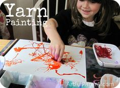 Yarn Painting and Printing with Watercolors