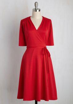 Let's Do the Time-Wrap Again Dress, @ModCloth
