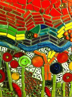 Hundertwasser (détails de céramiques)