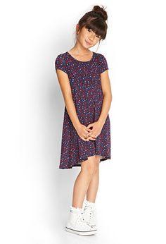 Flared Floral Print Dress (Kids) | FOREVER21 girls - 2000102631