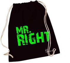 Rucksackbeutel Turnbeutel - Mr Right