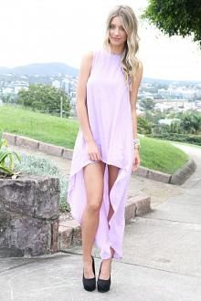 SABO SKIRT Long Tail Dress - Lilac - $58.00