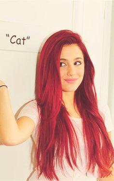 Ariana grande plays cat valentine in Nick's Sam and Cat and in 2010 Ariana also played Cat Valentine in Nick's Victorious. LOVE U ARIANA!!!