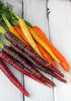 Grilled Rainbow Carrots with Basil Vinaigrette