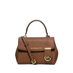 MICHAEL Michael Kors Ava Extra-Small Saffiano Leather Crossbody Bag Brown 7d9191fb42