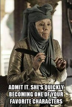 Game of Thrones funny meme. Since her first scene