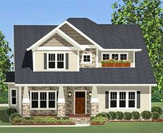 Flexible Craftsman With Laundry Chute - 46228LA   Craftsman, Northwest, Narrow Lot, 1st Floor Master Suite, Bonus Room, Butler Walk-in Pantry, CAD Available, Den-Office-Library-Study, PDF, Corner Lot   Architectural Designs