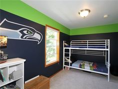 seahawk room paint ideas - Google Search
