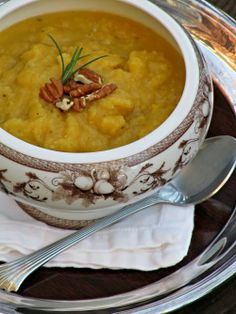 Pine Cones and Acorns: Roasted Butternut and Cauliflower Soup