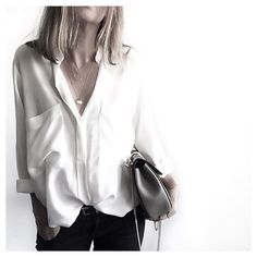 """869 mentions J'aime, 19 commentaires - Magali Pascal (@magalipascal) sur Instagram: """"Monday back to Basics! We  Our LOVER silk shirt via @theworkinggirl  Shop this look // click the…"""""""