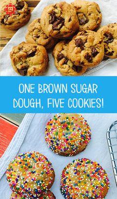 One Dough, Five Cookies
