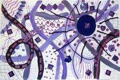 monochromatic collage, grade 5