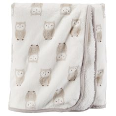 Baby Neutral Owl Print Velboa Blanket | Carters.com