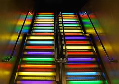 Rainbow Stairs by Peter Funnell