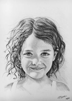 A3 Portrait drawing - graphite pencil - no smudging - no erasing