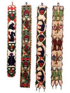 yoruba | Yoruba Beaded Sashes 21 - 24 African Textiles, African Fabric, Fabric Beads, Indigenous Art, African Design, Textile Artists, Tribal Art, Bead Art, Bead Weaving
