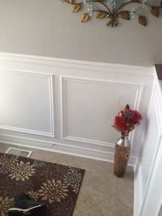 Traditional Wall Wainscotting beautifully done by our carpenter. Toronto. ON