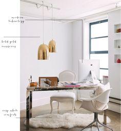 modern white gold sheepskin techonology creative office _ glitterinc.com