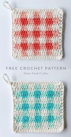 Crochet Sheep, Knit Crochet, Free Crochet, Crochet Stitch, Crochet Potholder Patterns, Crochet Dishcloths, Crochet Motif, Chicken Crochet Potholder, Crochet Kitchen