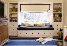playroom nook seating (but want to be a bed option)