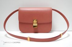 Celine Classic Terracotta Medium Textured Leather Box Bag, New