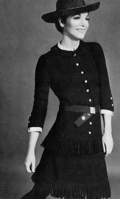1967 Elsa Martinelli for Chanel. UK Vogue
