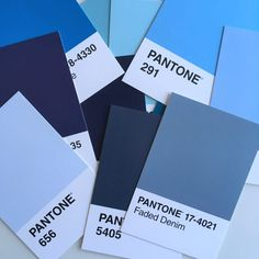 50 shades of blue paint. My favourite blue paints for the bedroom. Dulux and Farrow & Ball. 50 Shades, Shades Of Blue, Dulux Blue, Drawing Room Blue, Blue Bedroom Paint, Stiffkey Blue, Navy Living Rooms, Shade Card, Design Palette