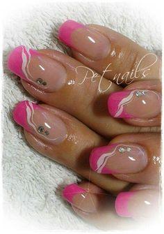 Pink French nails #nailart