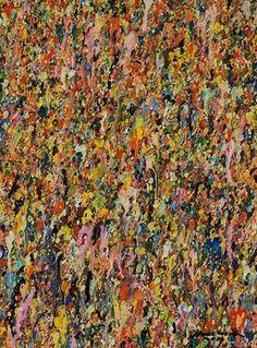 """€175,00 Konzeptionelle experimentelle Malerei, die abstrakte Gegenwartskunst zum Thema Naturraum schafft. Der chaotische Farbauftrag kombiniert mit subtilen räumlichen Effekten der Malerei lässt """"Organisches"""" entstehen, das durch die Größe des Bildes """"abgesteckt"""" wird. Gemalt wurde mit einer Mischtechnik, bestehend aus Acryl, wasservermischbarer Ölfarben und Lacken. """"Gemalt"""" trifft bei diese..."""