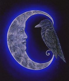 'The Raven and the Moon', Diane Kremmer - 2012
