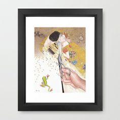 Dissecting Gustav Klimt by Lars Furtwaengler | Colored Pencil | 2012 Framed Art Print by Lars Furtwaengler - $37.00