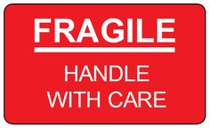 Fragile handle with care label template.  Print these out and put this on your fragile packages.