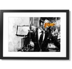 Framed Sartorial Painting Tom Ford Print, X Black Wood, Solid Black, Tom Ford, Toms, Museum, Frame, Prints, Artist, Painting