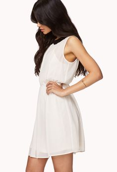 Lace Paneled Chiffon Dress | FOREVER21 - 2050813485