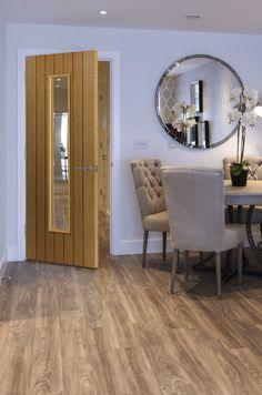 Oak cottage style door with a modern twist. JB Kind's Cherwell Glazed #internaldoor #oakdoor