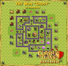 Clash of Clans Builder - Base Design Strategies and Base Plans - Clash of Clans Builder Clash Of Clans Hack, Clash Of Clans Free, Clash Of Clans Gems, App Hack, Free Gems, Design Strategy, Hack Tool, Game App, Base