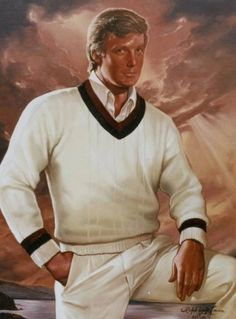 Portrait of Donald Trump by Ralph Wolfe Cowan that hangs in Trump's Mar-a-Lago residence in Florida