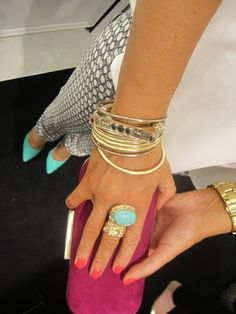 The arty ring YSL speaks volumes of style.   http://www.reebonz.com