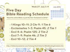 Full schedule: http://bibleclassmaterial.com/Catalog/Mark%20Roberts/BibleReadingSchedule.htm #Bible #ReadingSchedule #Christian #TwoSparrowsPress