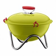 Bodum Frykat Portable Charcoal Grill: Also available in black, orange, red and off white. $57.69 #Grill #Bodum