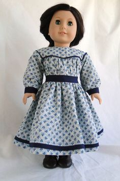 1860 Inspired Dress for American Girl Doll by dancingwithneedles