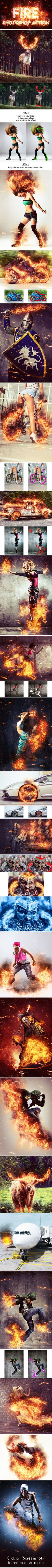 Fire Photoshop Action  #light #burn • Download ➝ https://graphicriver.net/item/fire-photoshop-action/16212593?ref=pxcr